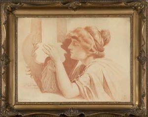 Piotr Stachiewicz Kobieta grająca na lirze (Alegoria słuchu)