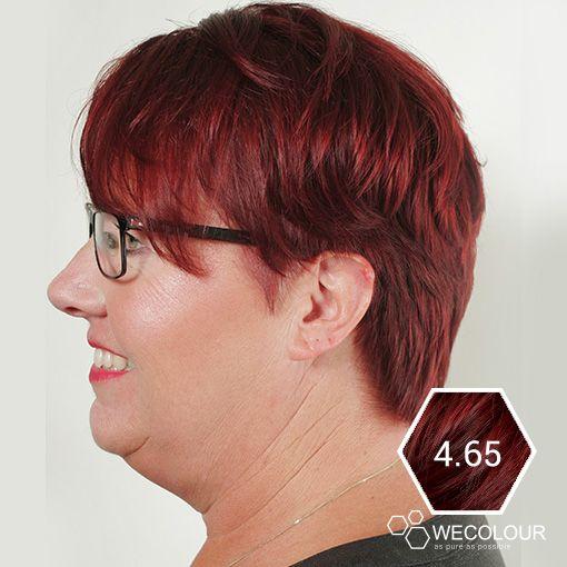 Dit is een erg goed voorbeeld van de 4.65 mahonie rood bruin van WECOLOUR. Onze haarverf zijn minder schadelijk voor het haar omdat er geen parabenen, ammonia en ppd in zit.  #grijsdekkend #mahonie #wecolour
