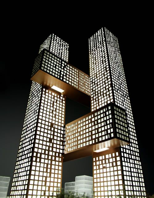 The Hashtag Tower In Seoul, South Korea, Designed By Danish Architectural  Firm BIG.