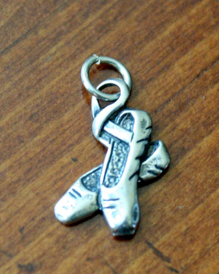 Ballet Slipper Shoes Pendant Charm for Ballet Dancer, Dance Jewelry, Ballerina Gift. $21.00, via Etsy.