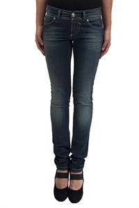 Ophelia Italy. Jeans X-Cape effetto delavè, elasticizzato. Chiusura sul fronte con zip nascosta e bottone. 97% cotone 3% lycra Made in Italy.