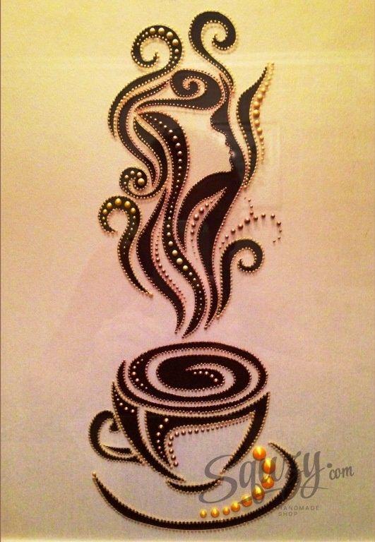 Мастер-класс по точечной росписи: Картина для ценителей кофе.
