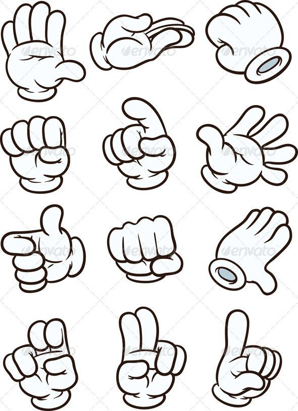 Cartoon Hands — Vector EPS #isolated #hand sign …