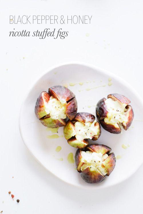 figs stuffed with ricotta and honey.: Honey Ricotta Cheese, Ricotta ...
