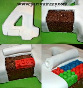 Dans ce tuto, je montre comment réaliser un Gateau Legofacile avec des fausses briques et sans moule précis. Il est en forme de chiffre 4 avec une petitemiseen scène de travaux. Le but est de faire croire que les bonhommes lego recouvre le gâteau de pâte à sucre. Au final, …