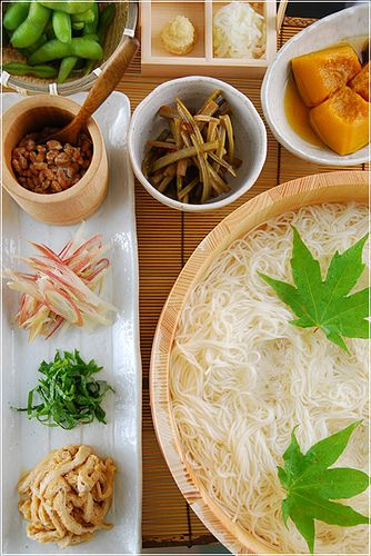 Japanese somen noodles そうめん -Chef Bradley Borchardt: SEARCH #BITTERCHEF (Pinners) #TASTYFLIX (BOARDS) #EXPANDINGPALATES
