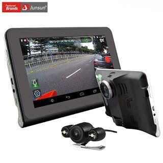 "Junsun 7""Capacitive Car DVR Camera Video Recorder Android 4.4 GPS Navigation WIFI FM Truck gps sat nav 16GB Map Free Update (32676190160)  SEE MORE  #SuperDeals"