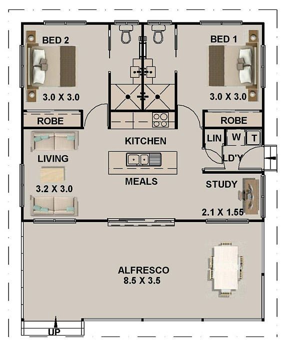 89 8 M2 Or 966 Sq Foot 2 Bedrooms 2 Bathroom Granny Flat Etsy Tiny House Floor Plans Small House Floor Plans Tiny House Plans