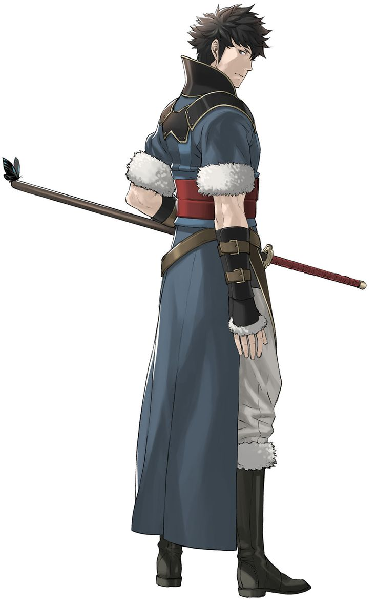 Lon'qu of fire emblem; would be sick water tribe garb