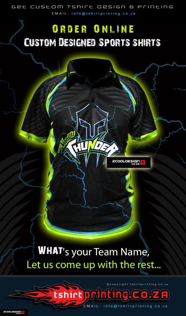 Vanilla Thunder #Cricket Team #Shirts #SouthAfrica by http://tshirtprinting.co.za  #coolshirt #coollogo #customdesign