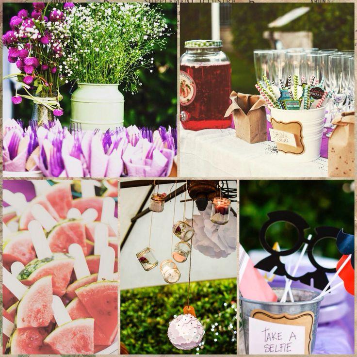 Wedding collage! #wedding #decoration #wedding party # garden party