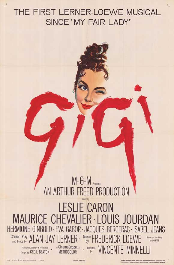"""Gigi.  My second favorite movie of all time.  For me, Maurice Chevalier walks away with the picture.  Love Honoré Lachaille's observations throughout but especially love his rendition of """"I'm Glad I'm Not Young Anymore"""" and his duet with Hermione Gingold, """"I Remember It Well."""" *sigh*"""