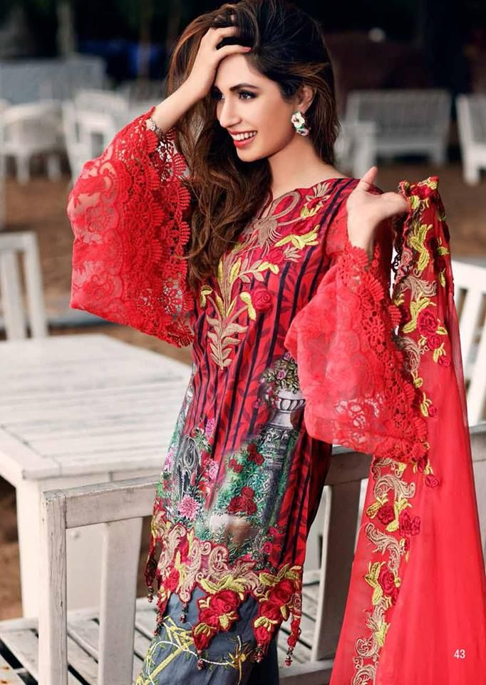 7c0a988c2e Mahiymaan Embroidered Lawn Festive Collection 2017 By Al-Zohaib | PK Vogue