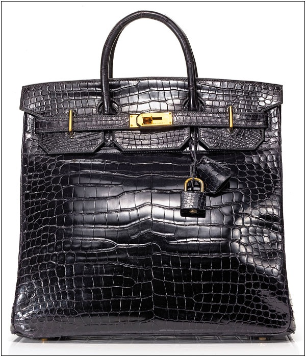 #Hermès Black Crocodile Birkin.