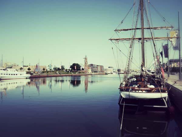 Im Neuen Hafen an der Südkaje: der gemütliche Teil von Bremerhaven.