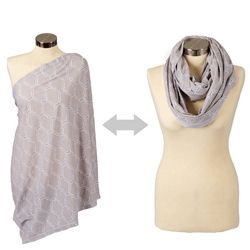 Itzy Ritzy #Nursing Happens Infinity #Breastfeeding Scarf - Quatrefoil Grey. Say goodbye to the old, apron-style nursing cover. #ItzyRitzy