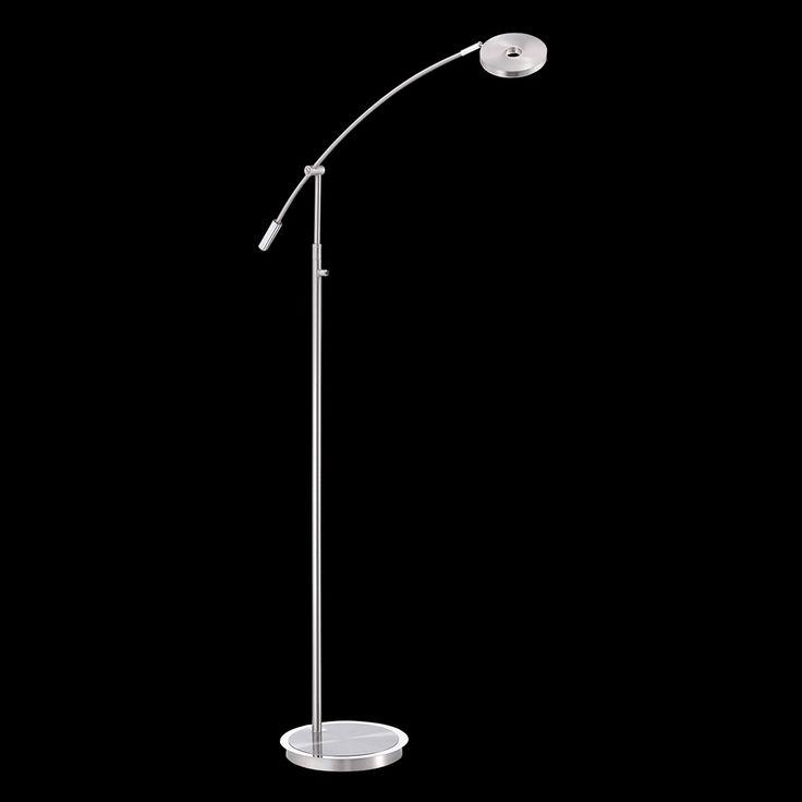 Dimmbare Stehleuchte mit einem Gelenk zum Verstellen mit LED-Technik