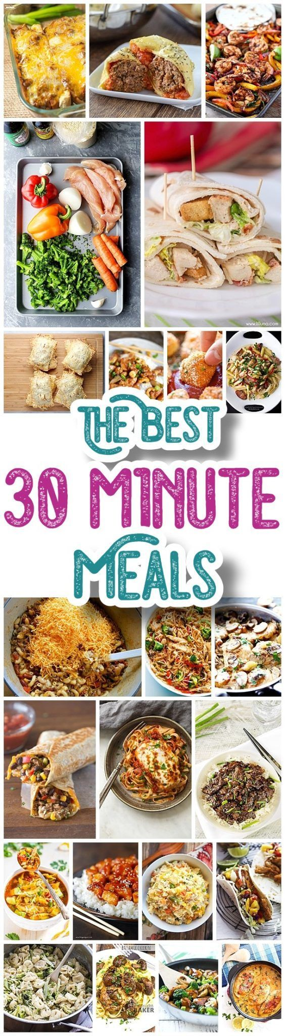 The BEST 30 Minute Meals Recipes - Easy, Quick and Delicious Family Friendly Lunch and Dinner Menu Ideas - Dreaming in DIY #30minutemeals #30minutedinners #thirtyminutedinners #30minuterecipes #fastrecipes #easyrecipes #quickrecipes #mealprep #simplefamilymeals #simplefamilyrecipes #simplerecipes