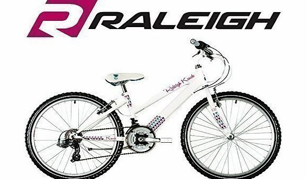 Raleigh Krush 24`` Childrens Bike - White - Girls (New Range) The Krush is your fashion favourite, with gorgeous coordinating accessories and adorable prints for instant riding style. The Krush is designed not only so you look great (Barcode EAN = 5051954185478) http://www.comparestoreprices.co.uk/childrens-bikes/raleigh-krush-24-childrens-bike--white--girls-new-range-.asp