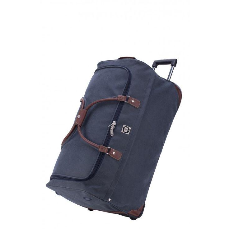 Tiergarten - Reisetasche mit Rollen, Leder-Optik, Blau, 77 cm, 108 Liter