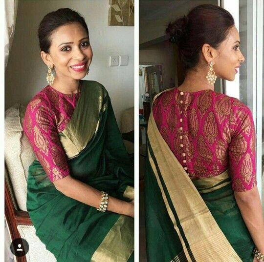 Nice combination with saree