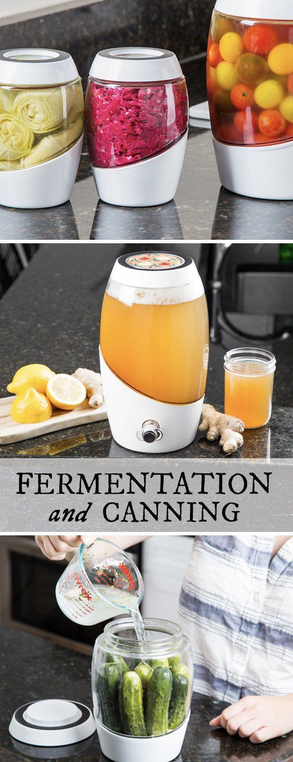Ferment your own nutrient-rich foods—in style. This vessel keeps air out but lets gases escape—all while looking lovely in your kitchen.