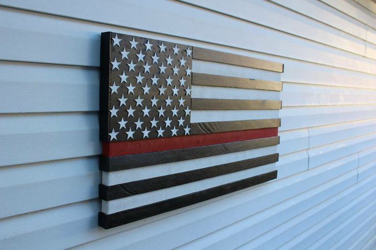Image of Thin Red Line Fire Hose Flag Pre-Order March 01
