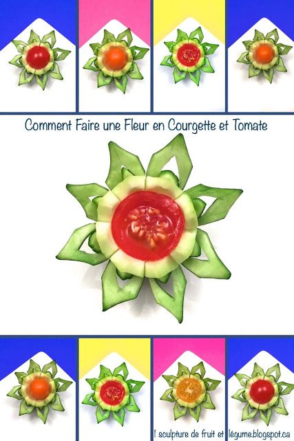 1 sculpture de fruit et l gume comment faire une fleur en courgette et tomate cerise cuisine. Black Bedroom Furniture Sets. Home Design Ideas