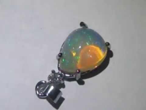 Liontin Perak Opal Kalimaya Pelangi Afrika 3.16 carat