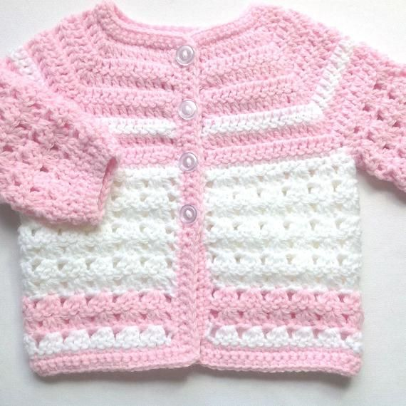Pink Crochet Baby Set 0 To 3 Months Girl Baby Pink Coat Etsy Crochet Baby Outfits Girl Crochet Baby Clothes Crochet Baby Sweaters
