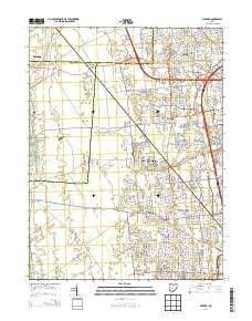 ~ Hilliard OH topo map, 1:24000 scale, 7.5 X 7.5 Minute, Historical, 2013