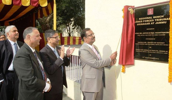 Justice N Paul Vasanthakumar Chief Justice of J&K High Court inaugurating Regional Bench of AFT at Jammu.