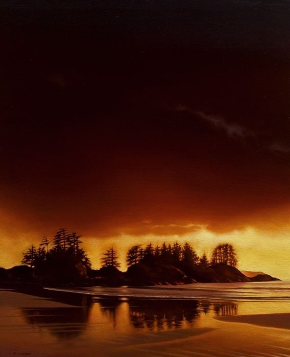 Break at Dawn (Chesterman Beach), by Ray Ward