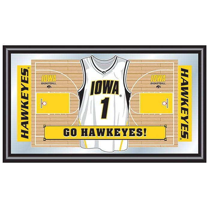 Trademark Commerce IA1550B University of Iowa Basketball Framed Jersey Mirror