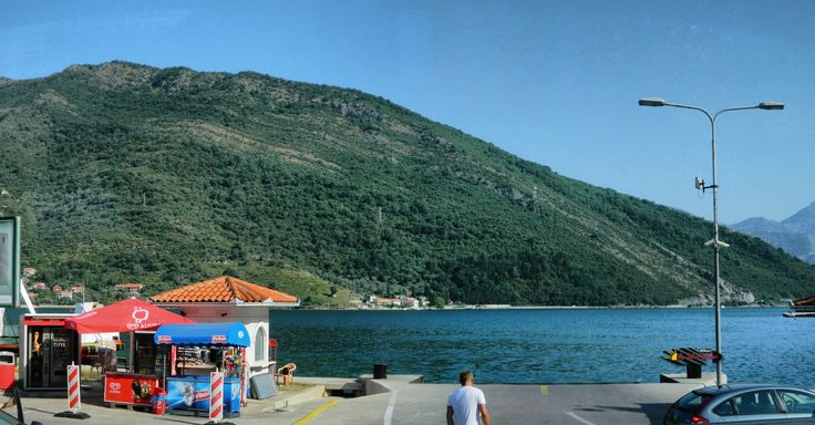 The ferry boat in Kotor Bay, Kamenari, Montenegro, Nikon Coolpix L310, 8.4mm, 1/500s, ISO80, f/3.6,-1.0ev, panorama mode: segment 2, HDR-Art photography, 201607100828