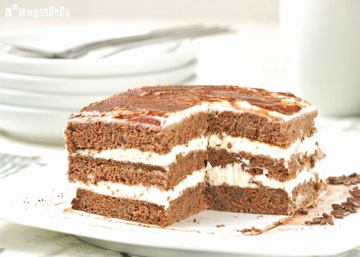 Tiramisú de chocolate   L'Exquisit