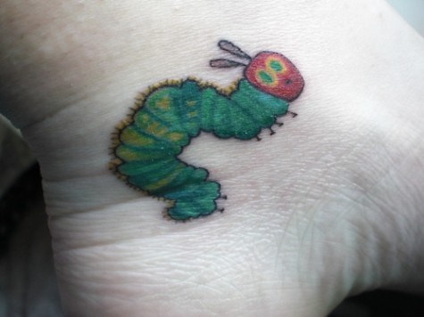 Little hungry caterpillar tattoo.