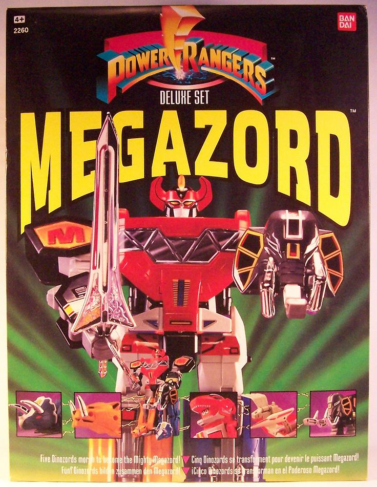 Mighty Morphin Power Rangers Megazord toy from Bandai