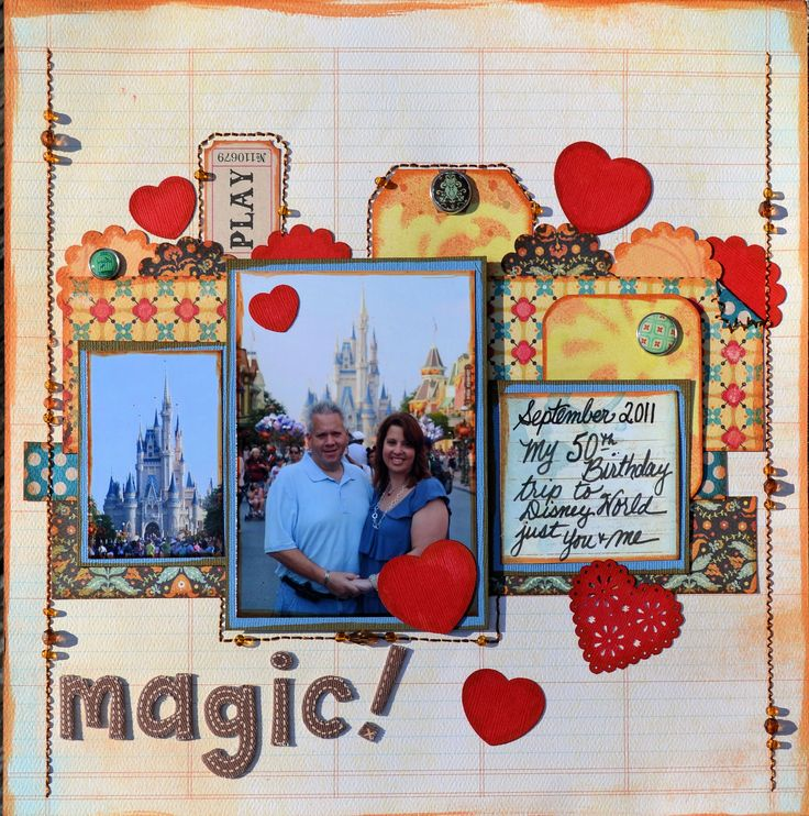 MAGIC! - Scrapbook.comScrapbook Ideas, Disney Magic, Scrap Disney, Scrapbook Layouts, Scrapbook Disney, Scrapbook Photos, Papercraft Scrapbook, Disney Scrapbook, Layout Tags