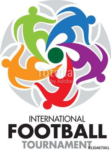 Vector: Vector abstract, International football tournament as symbol or logo