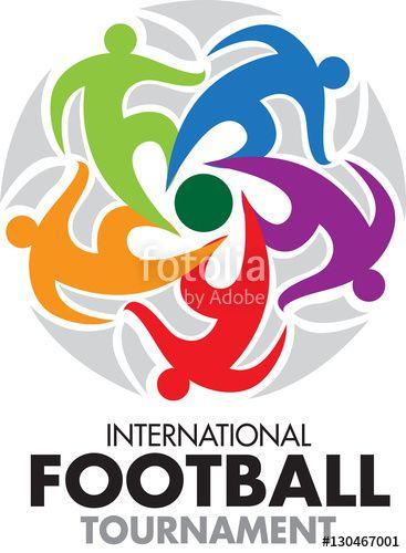 Vector: Vector abstract, International football tournament as symbol or logo