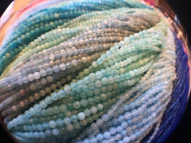 Pastel Little stone beads.🌥 Pastelowe koraliki drobne z kamienia.