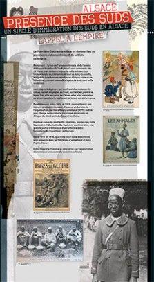 N°3 : L'appel à l'empire. La Première Guerre mondiale va donner lieu au premier recrutement massif des soldats coloniaux. Provenant à la fois de l'armée coloniale et de l'armée d'Afrique, les effectifs « indigènes » sont composés dès 1914 par près de cent cinquante mille soldats. © Groupe de recherche Achac