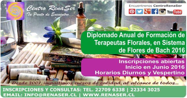 Diplomado Flores de Bach, #CentroRenaSer