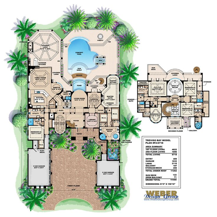 Mediterranean Luxury Floor Plans: Mediterranean House Plan: Luxury Tuscan Coastal Home Floor