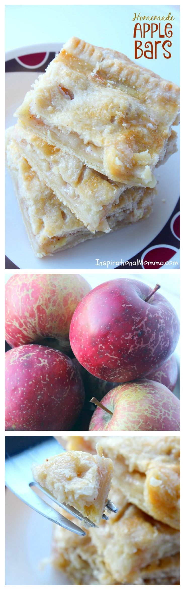 Homemade Apple Bars - A delicious homemade dessert with fresh apples layered on top of a light, flaky crust.