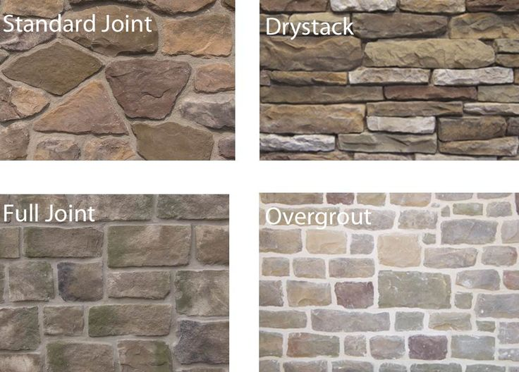 Overgrout ply gem stone stone pinterest colors for Brick types and styles