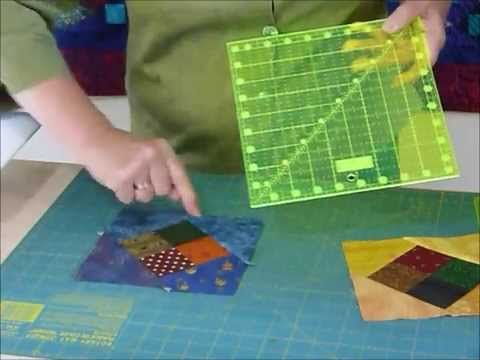 How to use delicious leftovers to make a Floating 4-patch block - Quilting Tips & Techniques 177 - YouTube