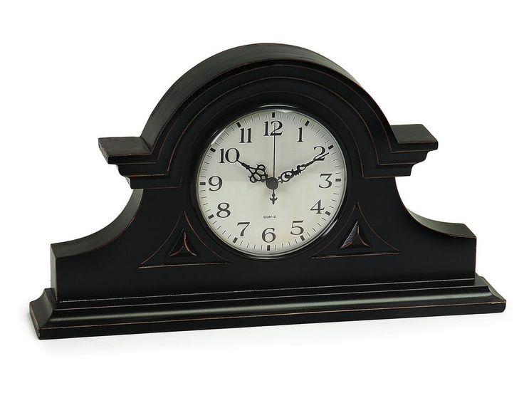 IMAX Corporation Accessories Black Mantel Clock 2631 - Andrews Furniture - Abilene, TX