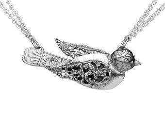 Spoon Necklace: Crab by Silver Spoon Jewelry by silverspoonj
